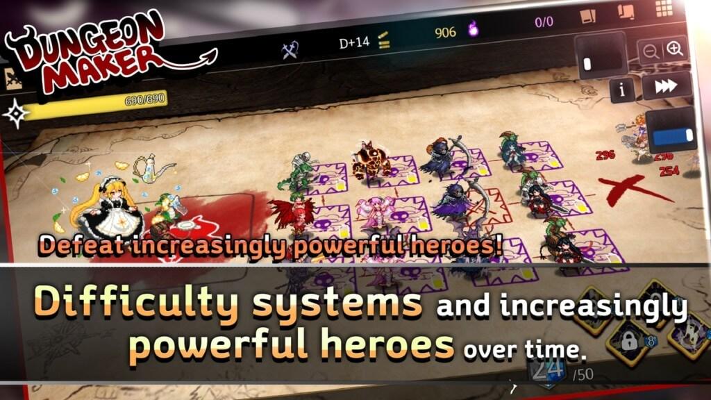 Геймплей в игре Dungeon Maker