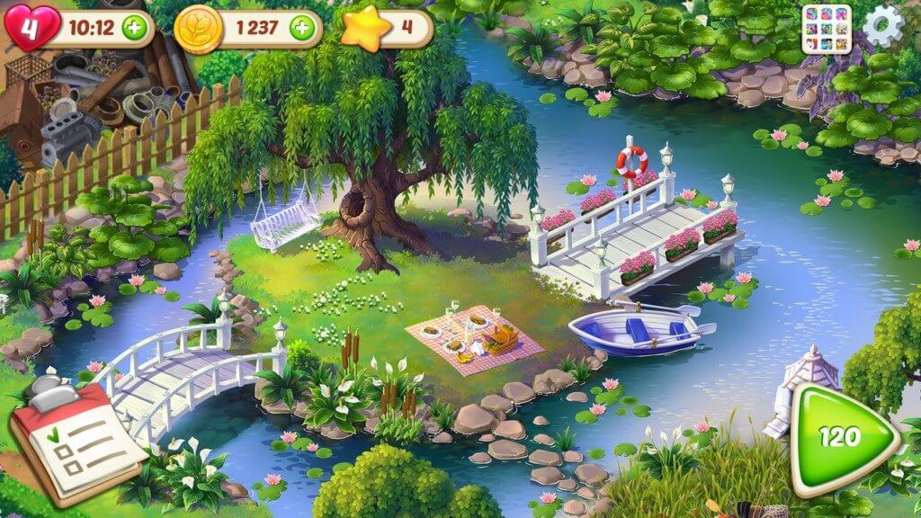 Геймплей в игре Lilys Garden