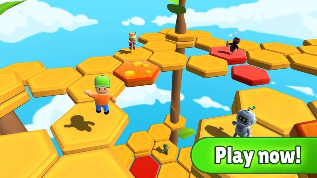 Stumble Guys - забавный геймплей