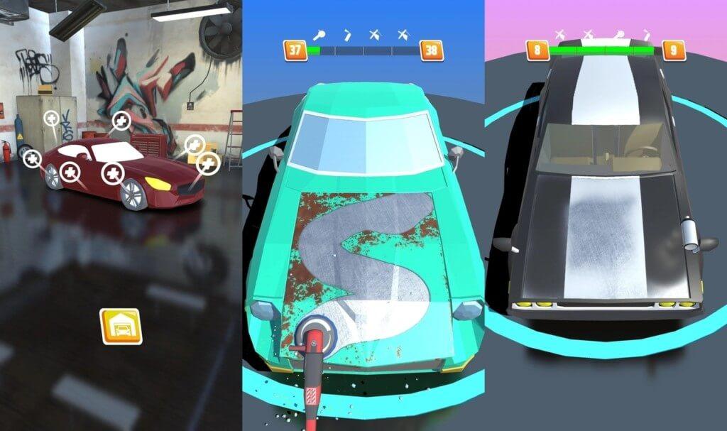 Ключевые особенности игры Car Restoration 3D