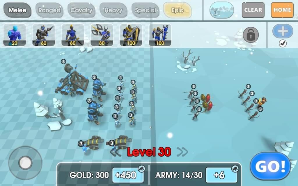 Геймплей в игре Epic Battle Simulator 2