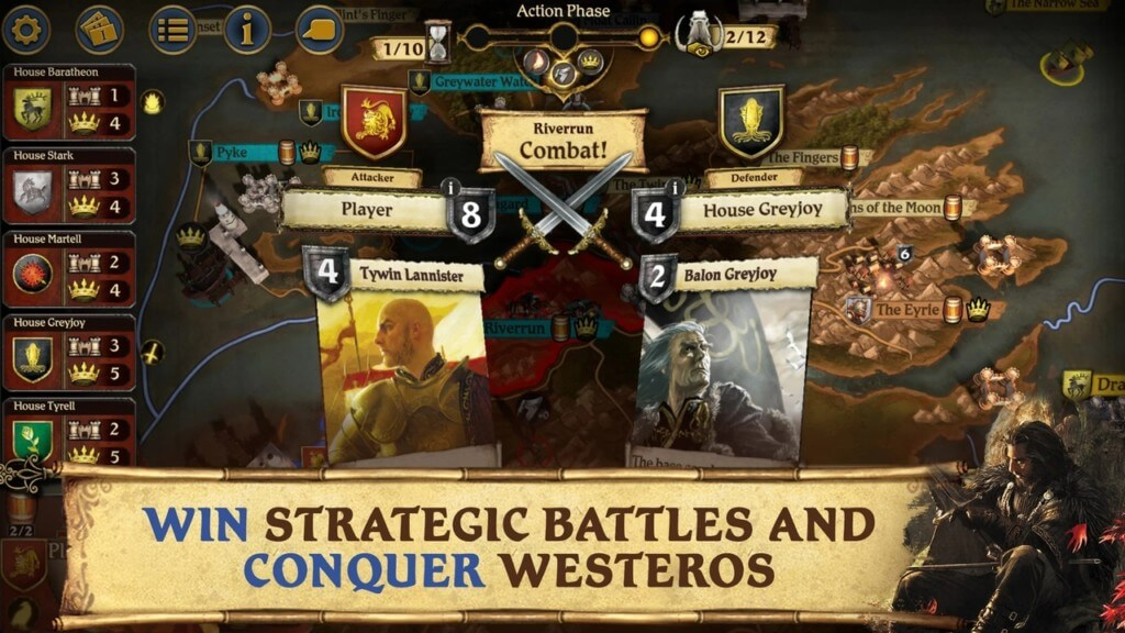 Сюжет в A Game of Thrones The Board Game