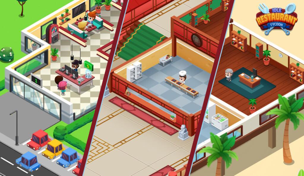 Про геймплей в игре Idle Restaurant Tycoon