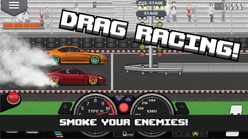 Pixel Car Racer - настройте свои автомобили и гоночные трассы