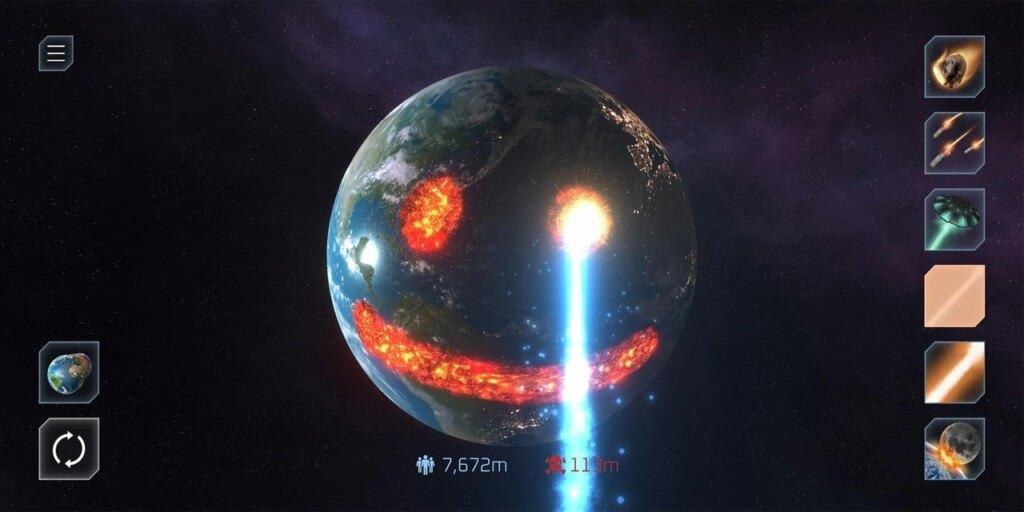 Уничтожить планету - новаторская идея игры Solar Smash на андроид
