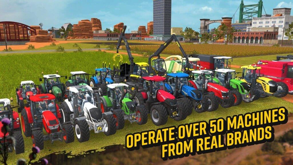 Механика игры Farming Simulator 18 на андроид