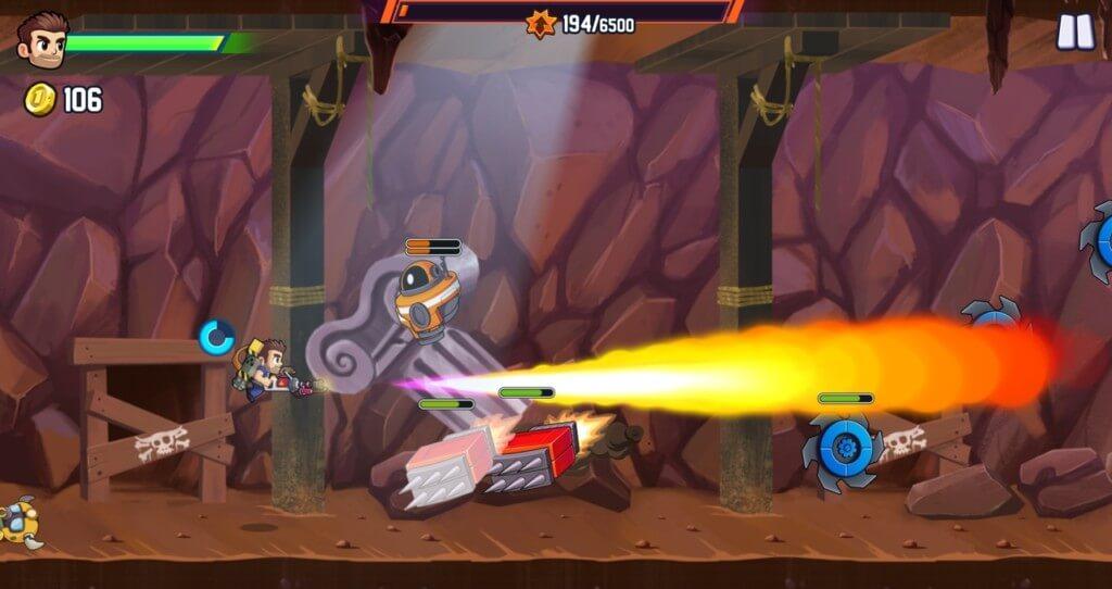 Геймплей игры Jetpack Joyride 2