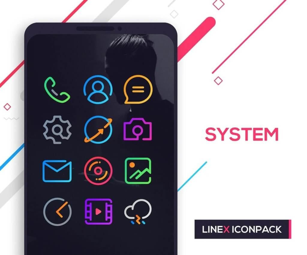 Подробнее о приложении LineX Icon Pack