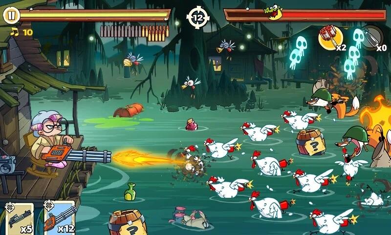 Swamp Attack 2 - легкий геймплей, но сложные уровни
