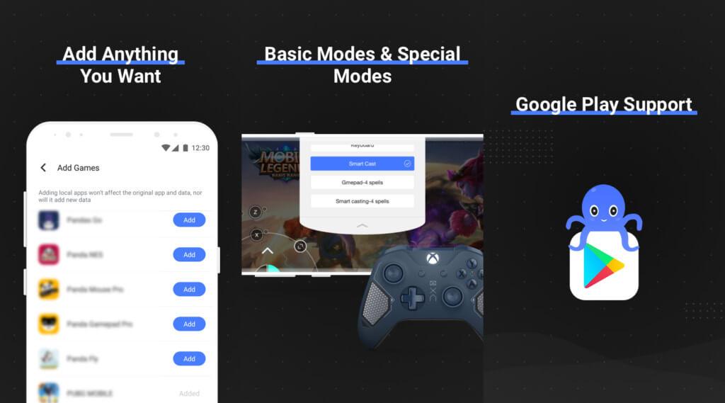Octopus - мощное дополнение для мобильных игр с геймпадом