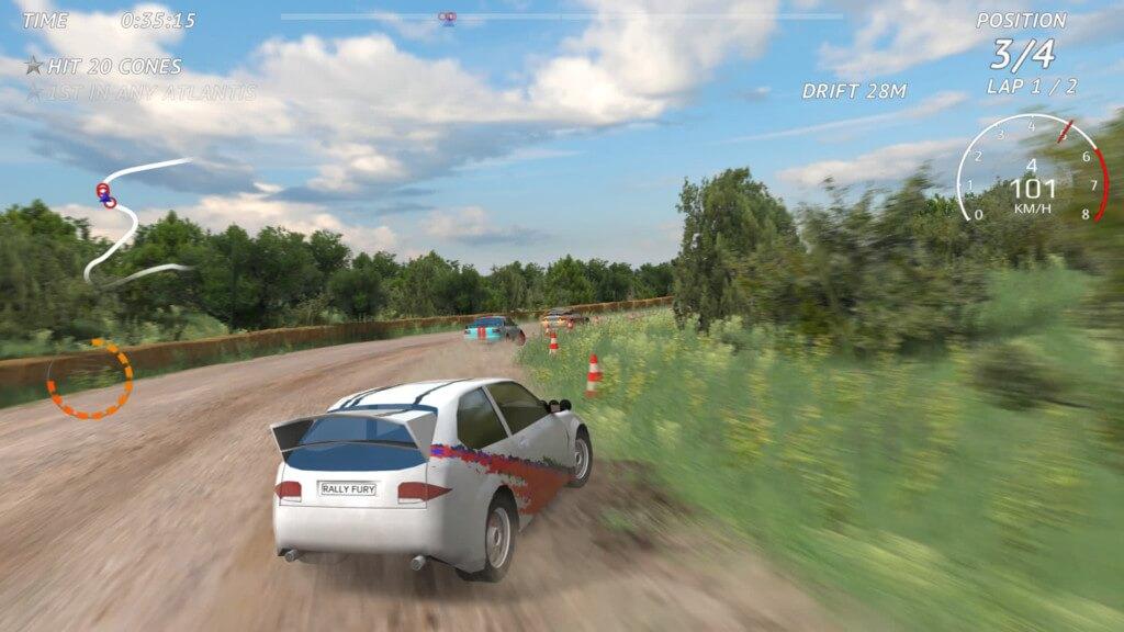 Rally Fury - современные 3D-гонки