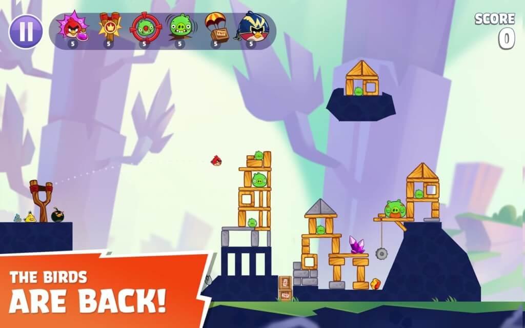 Про сюжет в игре Angry Birds Reloaded