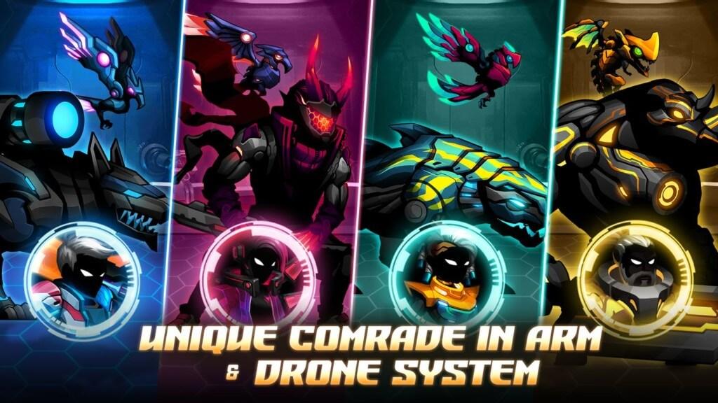 Геймплей в игре Cyber Fighters