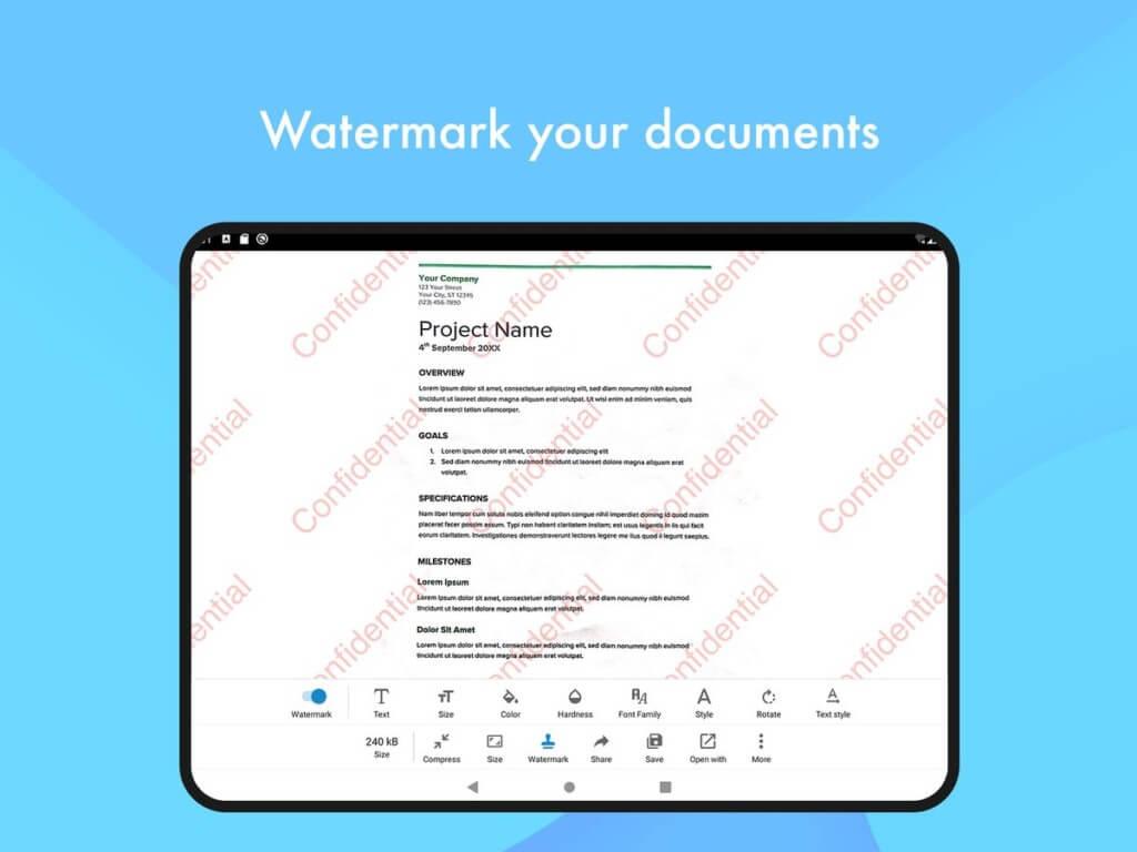 Ключевые функции приложения Document Scanner