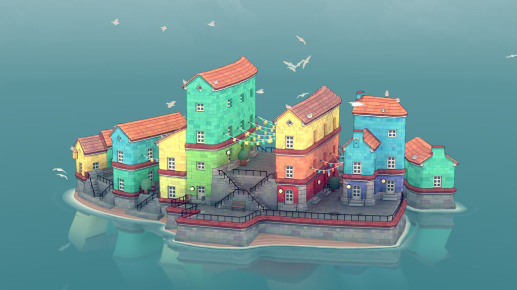 Скриншот Townscaper