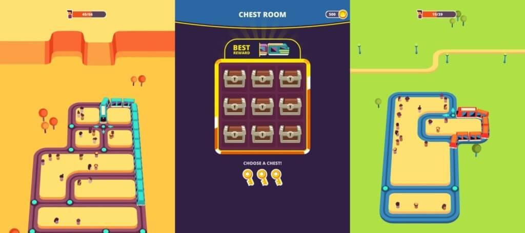 Геймплей в игре Train Taxi