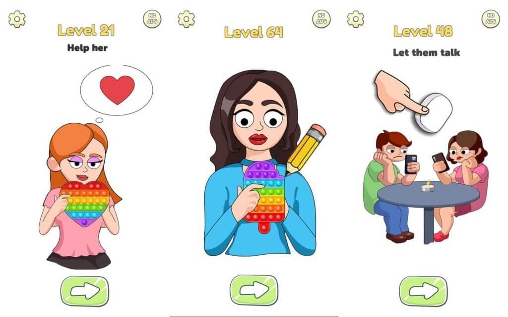 Раскройте свой творческий гений в игре Brain Love Story
