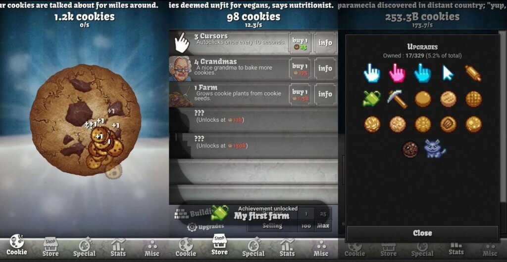 Сюжетная линия в игре Cookie Clicker