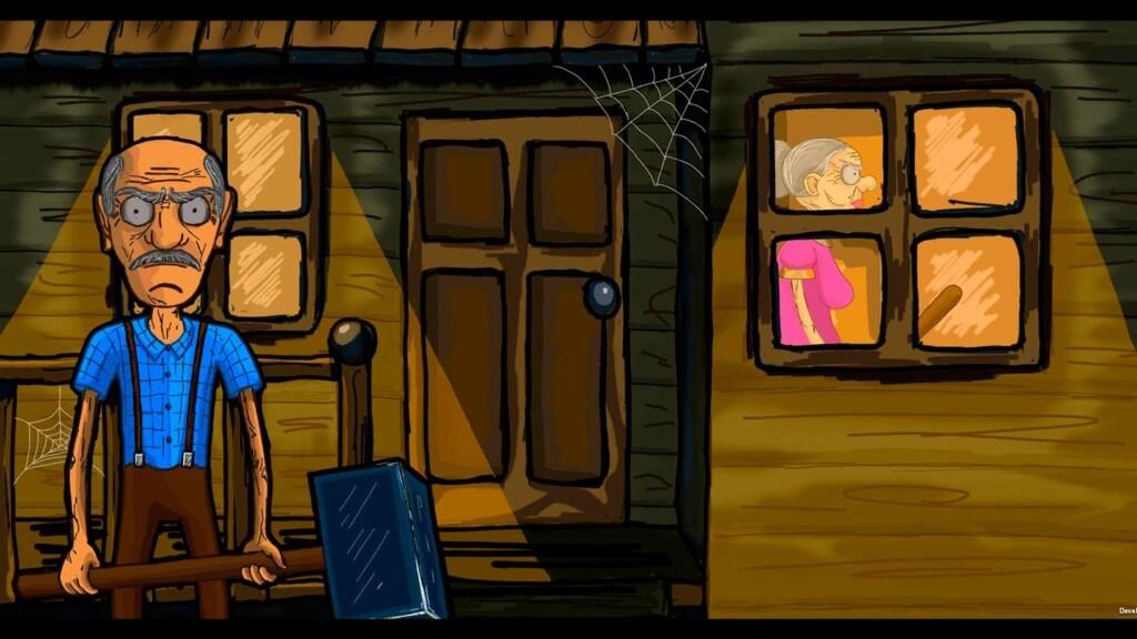Геймплей игры Grandpa And Granny Escape House