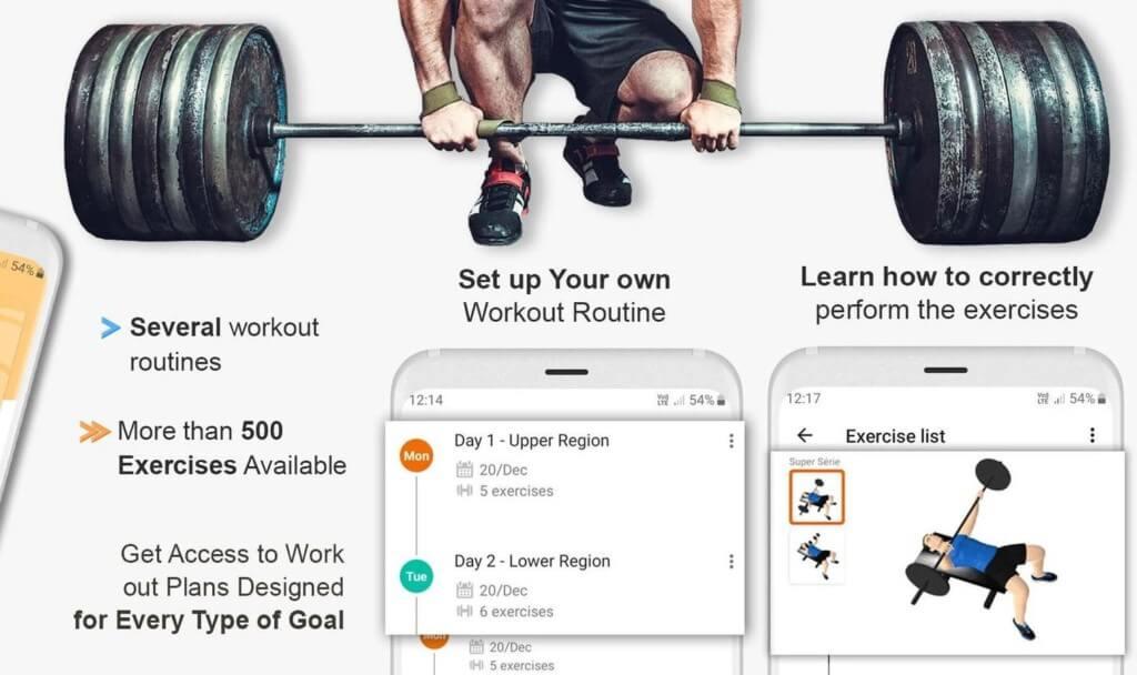 Gym WP показывает все показатели вашего тела