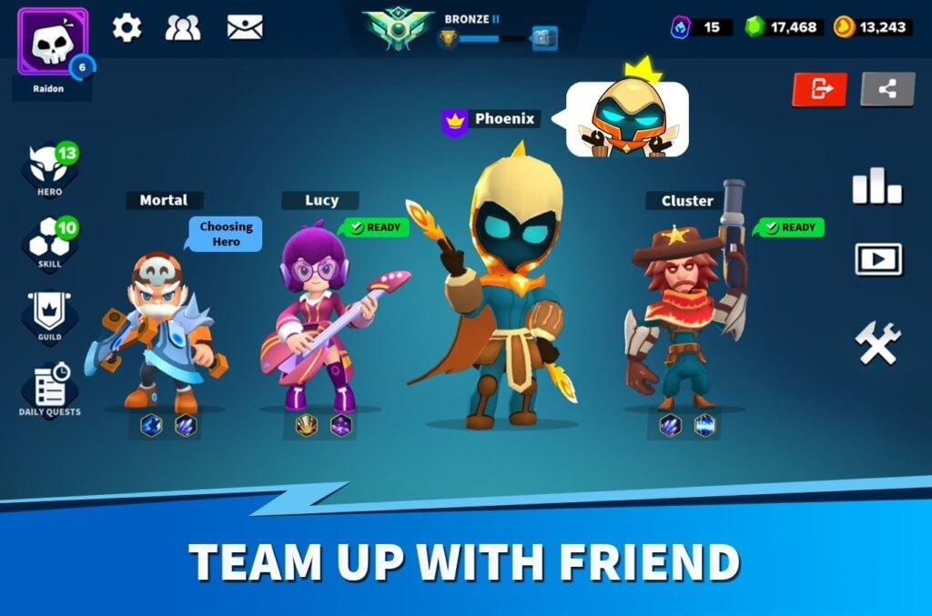 Геймплей в игре Heroes Strike