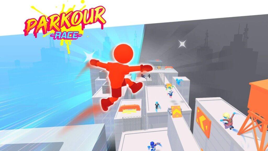 Простой и интересный геймплей в Parkour Race