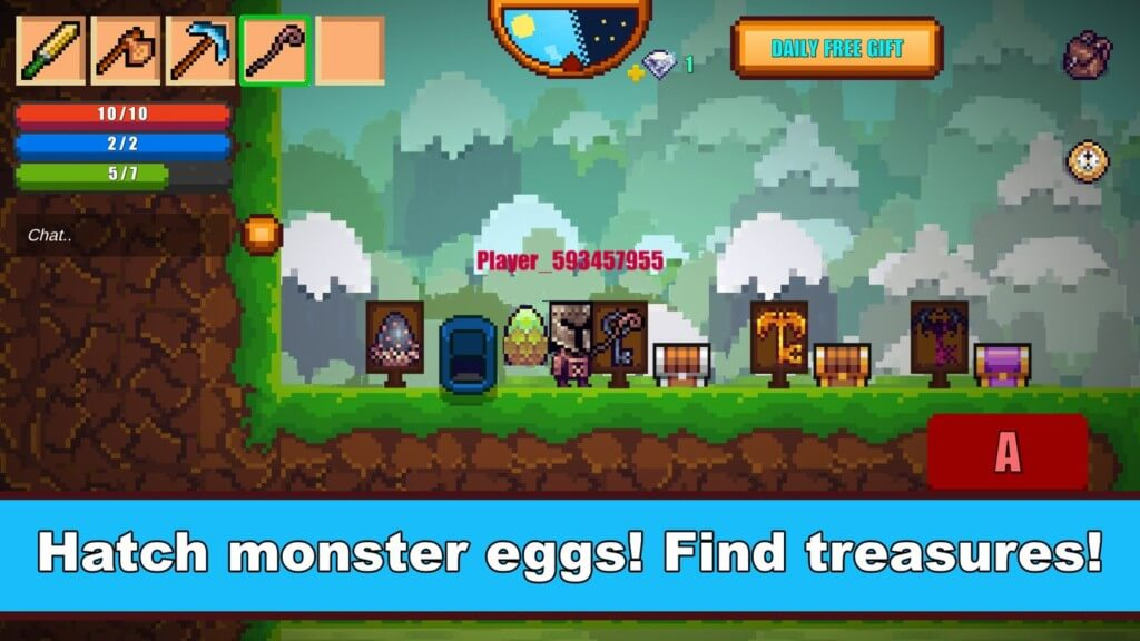 Геймплей игры Pixel Survival Game 2