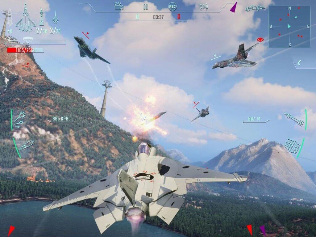 Sky Gamblers - привлекательная игра-симулятор реактивного самолета