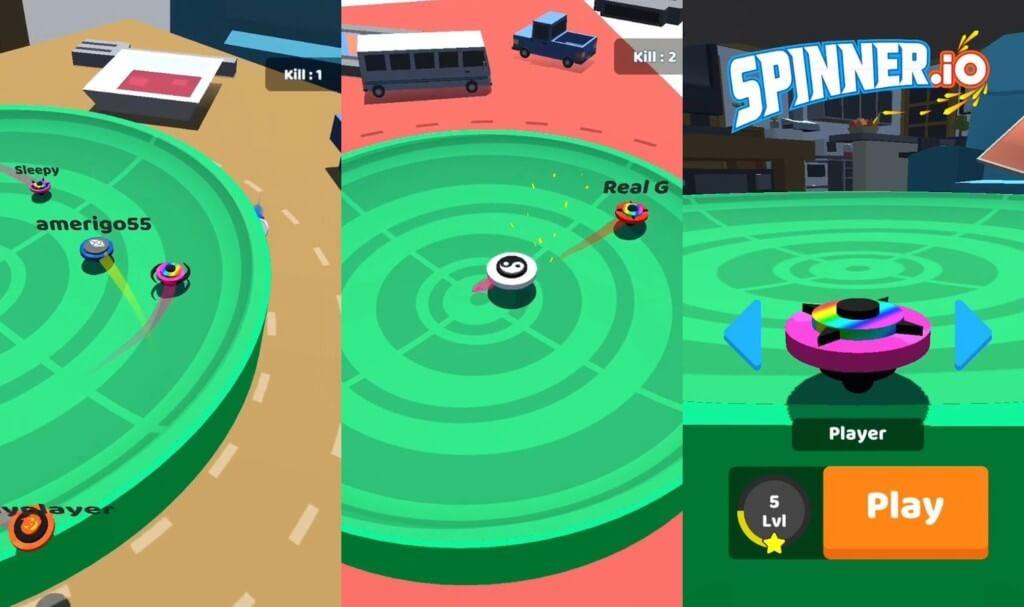 Геймплей игры Spinner.io