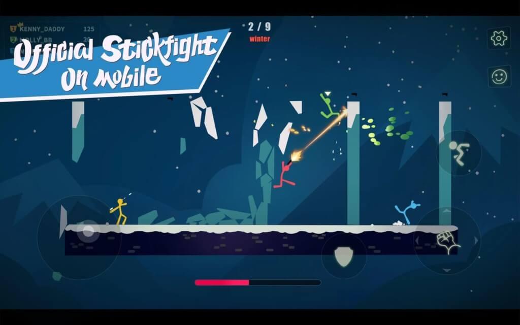 Геймплей в игре Stick Fight на андроид