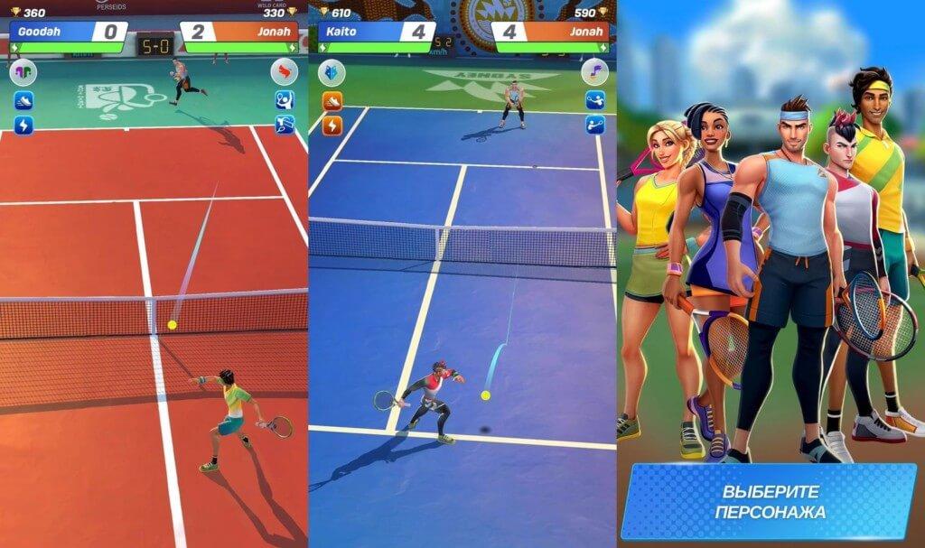 Геймплей в игре Tennis Clash