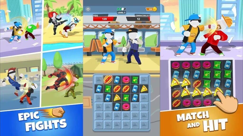 Match Hit - решайте головоломки и побеждайте противников