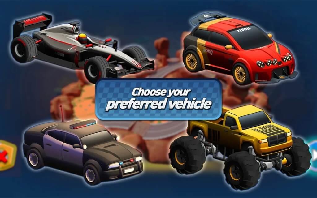 Minicar io : Messy Racing - 18 треков в разных локациях