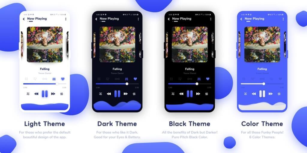 Nyx Music Player - бесплатное приложение для музыкального плеера без рекламы