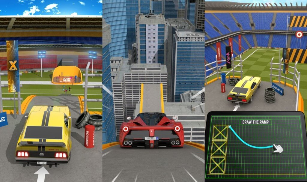 Ramp Car Jumping - очень простой геймплей