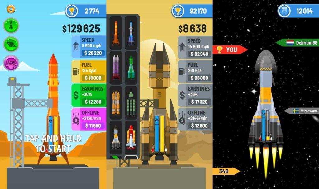Rocket Sky - очень простой геймплей