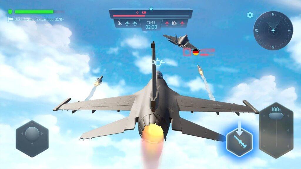 Sky Warriors Blazing Clouds - почувствуй себя настоящим пилотом