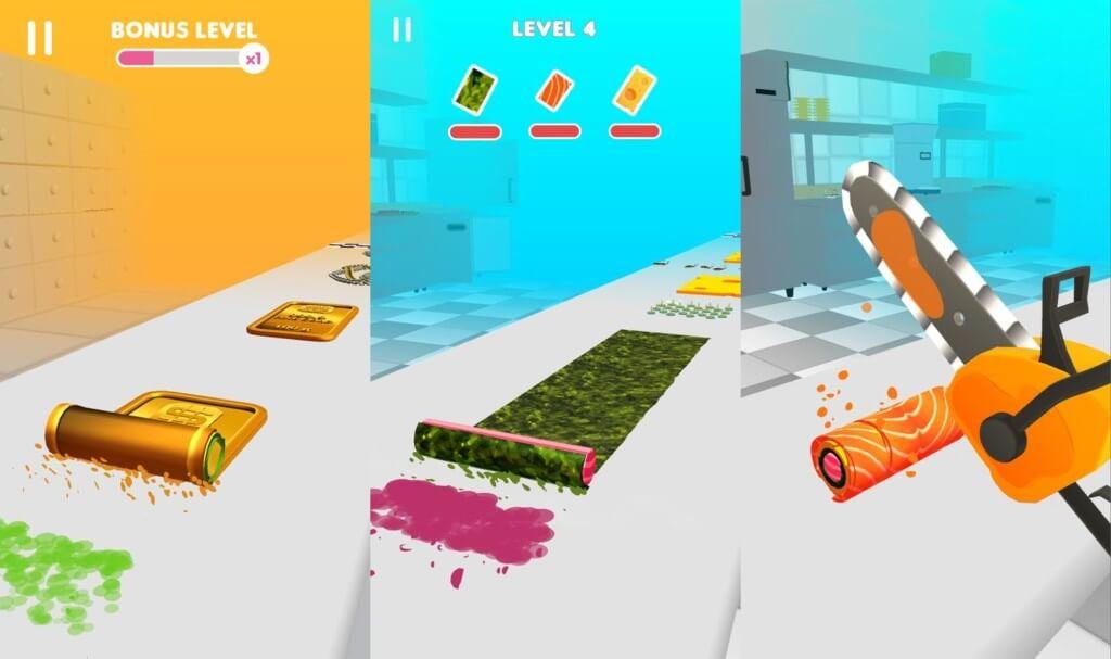 Sushi Roll 3D - простой и понятный игровой процесс
