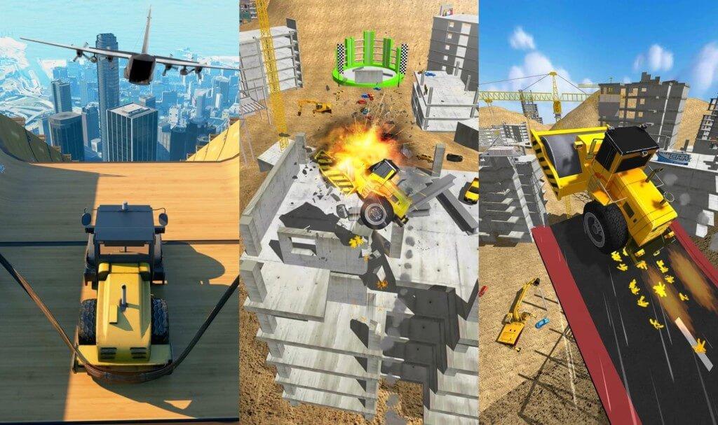 Construction Ramp Jumping - совершайте сумасшедшие прыжки